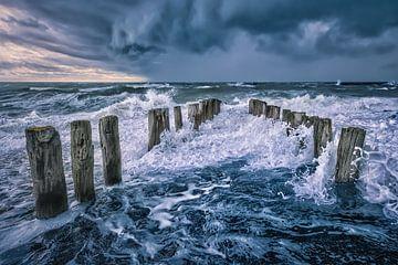 Sturm bei Westkapelle von Sander Poppe