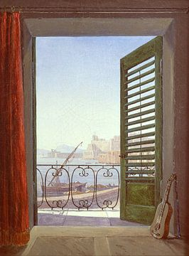 Carl Gustav Carus.Balkon in Neapel