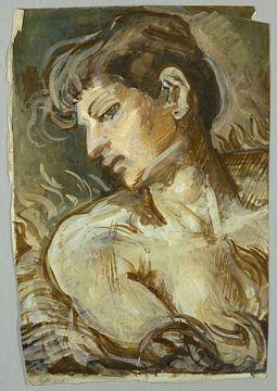 Francis Lathrop, Studie voor Cleopatra - 1880-1890 van Atelier Liesjes