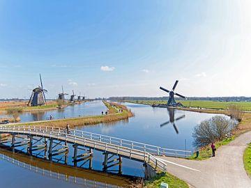Windmolens op Kinderdijk in Nederland van