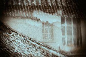 Spookraam in double exposure