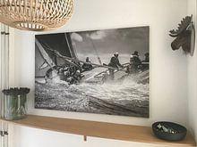Klantfoto: Skûtsje Leeuwarden van ThomasVaer Tom Coehoorn, op canvas