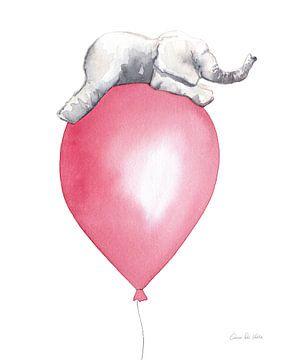 Baby Elephant Love I, Aimee Del Valle van Wild Apple