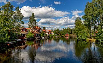 Blik op Sundborn, Zweden van Adelheid Smitt
