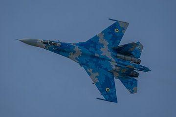 Vorbeiflug von oben an einer Sukhoi 27 der ukrainischen Luftwaffe während eines Spottertages am Klei von Jaap van den Berg
