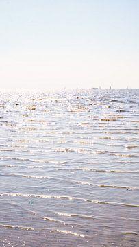 De Waddenzee bij Harlingen, Nederland van Visiting The Dutch Countryside