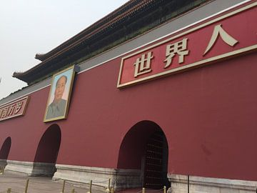 Ingang verboden stad met Keizer Mao Zedong van