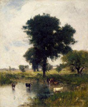George Inness - Rinder im Pool (Eine Sommerlandschaft)