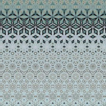 Abstrakter farbenfroher geometrischer Hintergrund mit künstlerischen Elementen wie Pinselstrich und  von Ariadna de Raadt