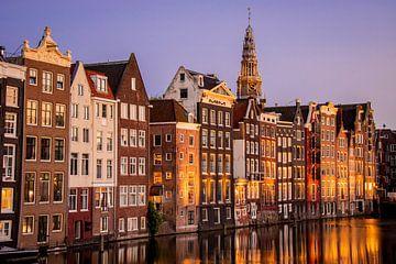Amsterdam | Damrak, Fassaden und Alte Kirche von Mark Zoet