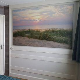 Kundenfoto: Sommer Sonnenuntergang in den Dünen am Nordseestrand von Sjoerd van der Wal, auf leinwand