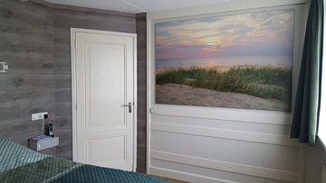 Kundenfoto: Sommer Sonnenuntergang in den Dünen am Nordseestrand von Sjoerd van der Wal
