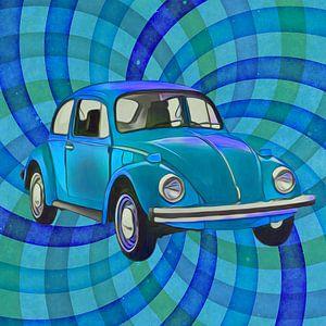 Kever twirl blauw van