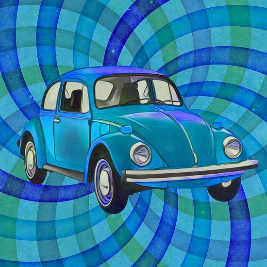 Beetle twirl bleu