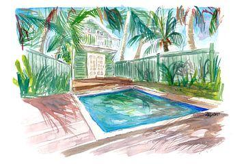 Zen und Gelassenheit Pool in Key West FL von Markus Bleichner
