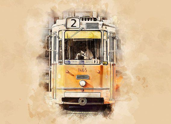 Historische tram in Boedapest