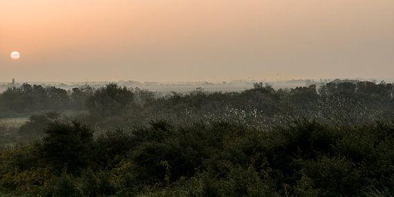 Zonsopgang boven Zeeuws-Vlaanderen (2)