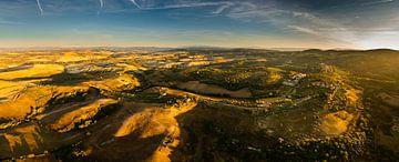 Panorama van het schitterende Toscaanse landschap