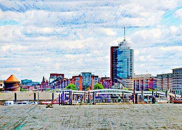 Niederhafen en Hafencity van Leopold Brix