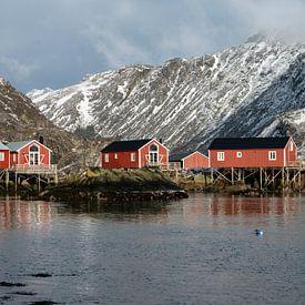 Nusfjord, Norway Lofoten. von Ab Wubben