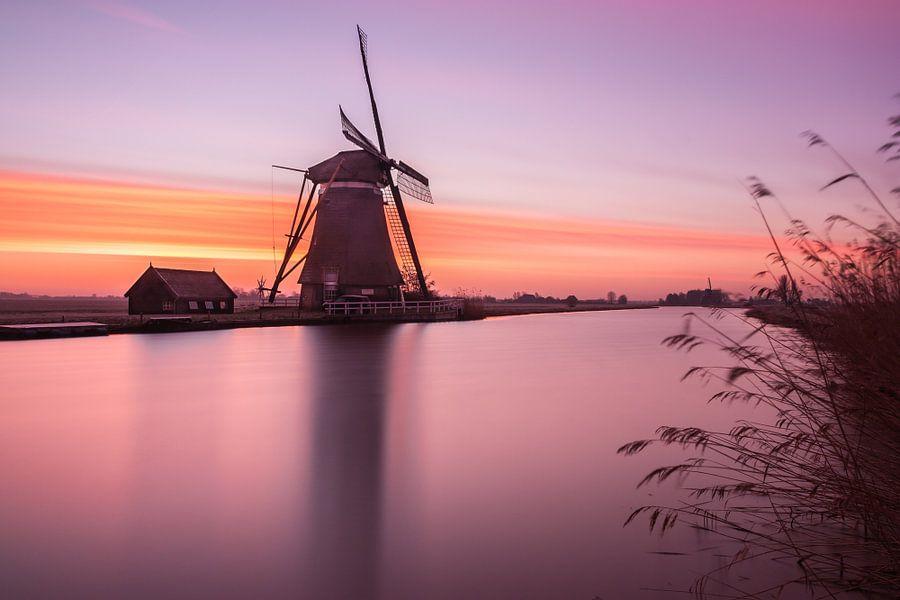 zonsopkomst bij Groot Ammers  van Ilya Korzelius