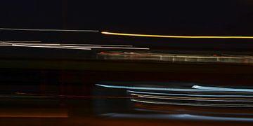 een trein op de maasbrug van Wim Knelissen