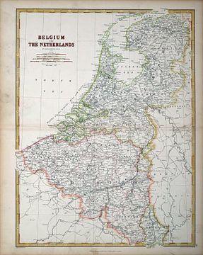 Karte von Belgien, den Niederlanden und Luxemburg