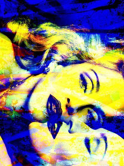 Madonna Truth or Dare Abstrakt Gelb / Blau