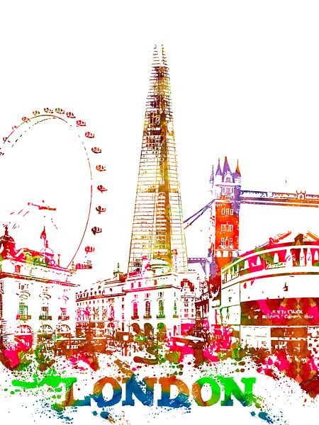 Londen van Printed Artings