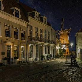 Oud Wijk Bij Duurstede - Dorestad bij Nacht van Mart Houtman