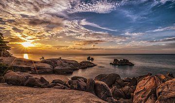 zonsopkomst Thaise kust van
