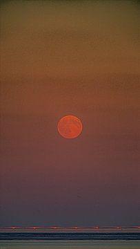 Maan boven Oosterschelde von Klaas Boonstra