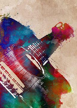 Gitarre 30 Musik Kunst #Gitarre #Musik von JBJart Justyna Jaszke