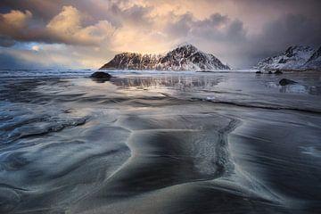 Zonsondergang bij Skagsanden. sur Sven Broeckx