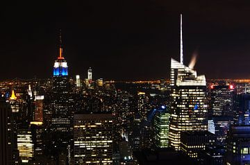Manhattan @ Night II van Michiel Heuveling