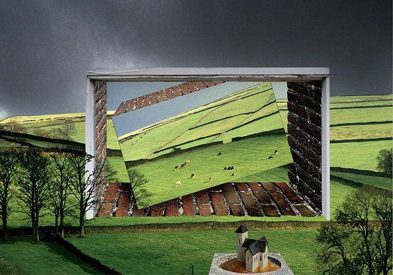 surrealistisch landschap van Henk Speksnijder