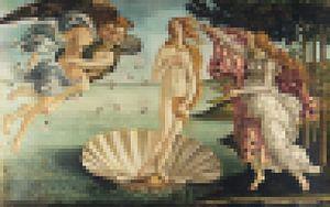 Pixel Art: De Geboorte van Venus  van JC De Lanaye
