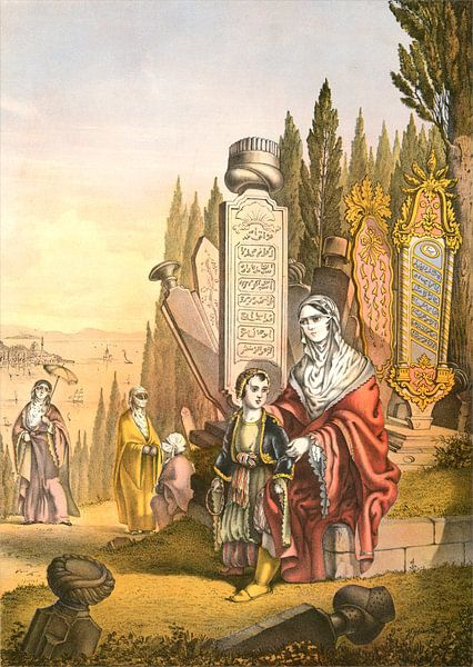 Turkish and Armenian ladies, woman of Turkey and of Armenia, Travels through Turkey 1862, Turkse en  van Liszt Collection