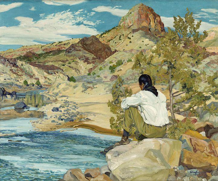 Walter Ufer-Op der Rio Grande von finemasterpiece