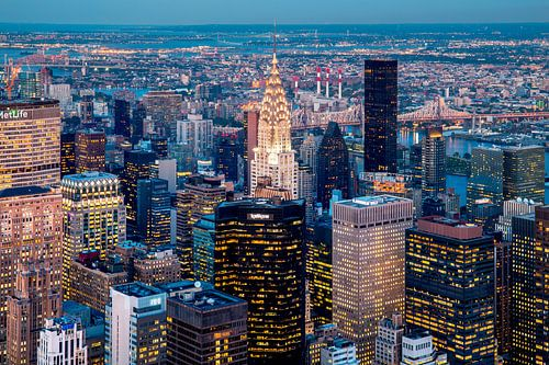 New York Skyline from Above van