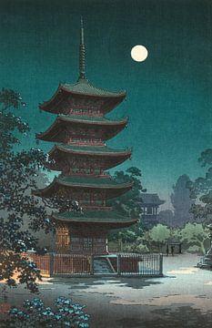 Tsuchiya Kōitsu. Schetsen van beroemde plaatsen in Japan: Asakusa Kinryūzan-tempel