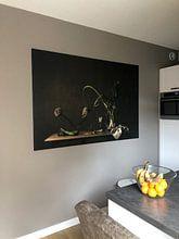 Klantfoto: Stilleven in 't groen, vtwonen van Monique van Velzen, op canvas