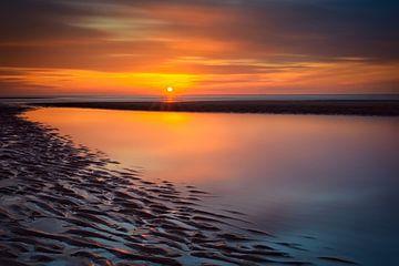 Orange sunset van Richard Guijt Photography