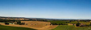 Landschaft mit Blick auf die Pyrenäen von Lieke van Grinsven van Aarle
