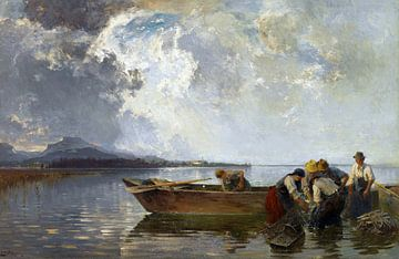 Fischerzug am Chiemsee, JOSEPH WOPFNER, Ca. 1910-1915