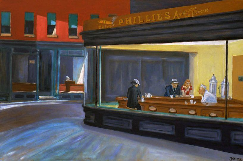 Nachtschwärmer (Nighthawks) - Edward Hoppers von Jan Wiersma