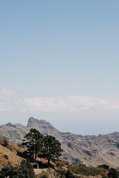 Landschaft mit Bergen auf der Insel Teneriffa von Yvette Baur