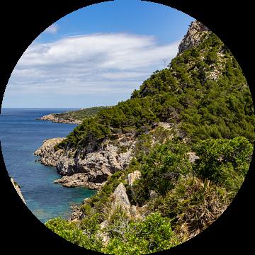Ses Caletes baai in het noordoosten van Mallorca van Reiner Conrad
