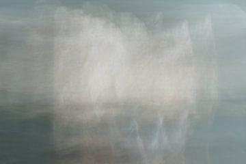 Scheepjes op het water | Abstract landschap van Henriëtte Mosselman