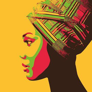 African Hairwrap van